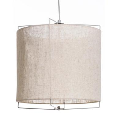 Sisi natural-grey fabric metal table lamp