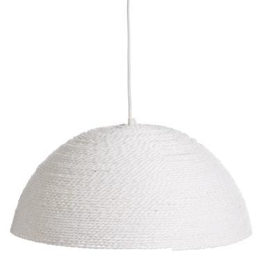 Ante lámpara techo beige cuerda de papel