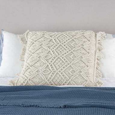 Cest natural cotton macrame cushion