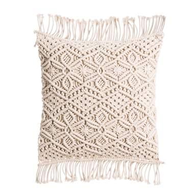 Saer almofada macramê natural algodão