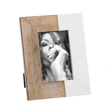 Tery white natural wood photoframe