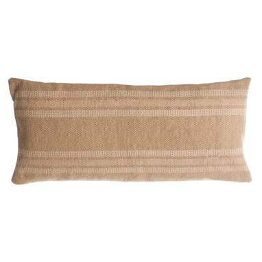 Pyca grey-beige cotton cushion