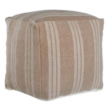 Teru grey-beige cotton pouf