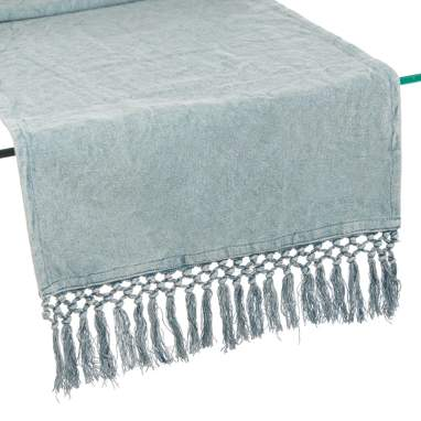 Faro grey cotton table runner