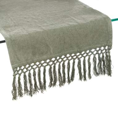 Coff green cotton table runner