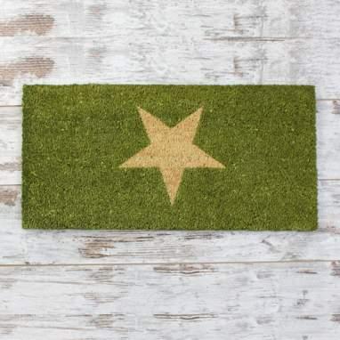 Grest tapete de entrada estrela verde 70x35