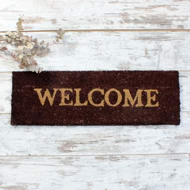 Welm paillasson welcome marron 75x 25