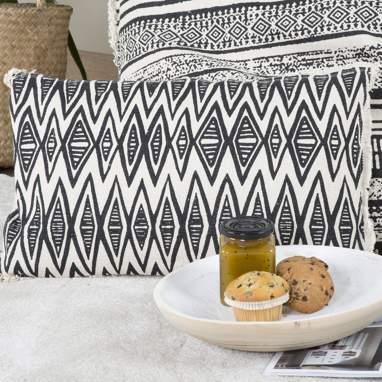 Robby cuscino geommetrico bianco-nero 30x50cm