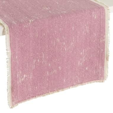 Tikke caminho de mesa rosa-bebé 45 x 150
