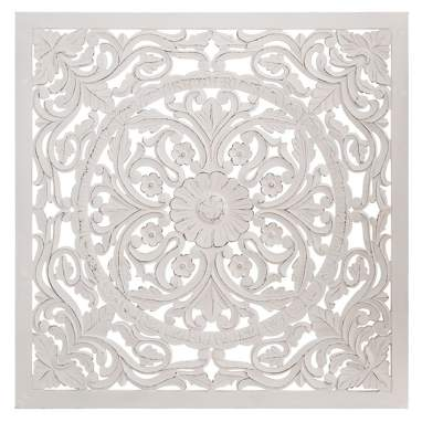 Jutt quadro mural branco 120x120