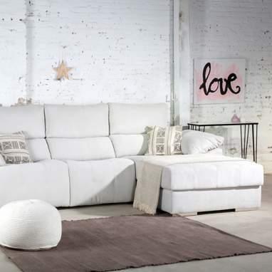 Milano sofá relax eléctrico c/arcón tela