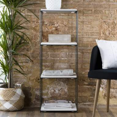 Kalta white snow vertical shelf