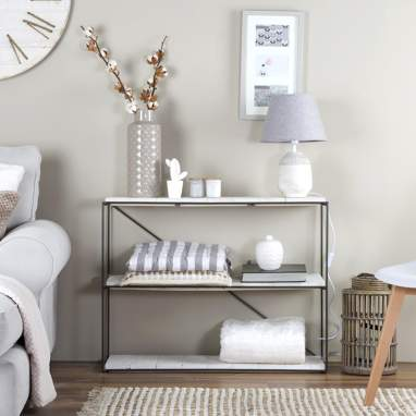 Kalta estante horizontal branco snow