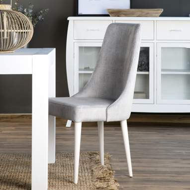 Audrey white legs chair