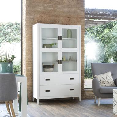 Kehra double glass cabinet