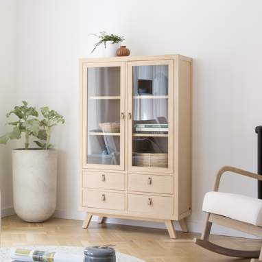 Kumla double glass cabinet