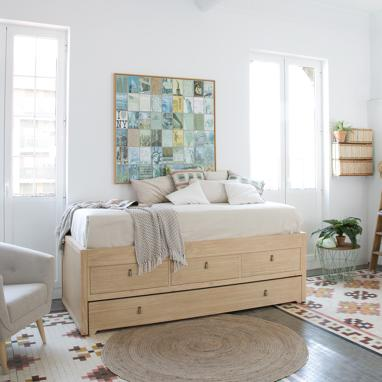 Kumla trundle bed with drawers