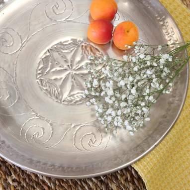Ossy plato aluminio silver 38x38
