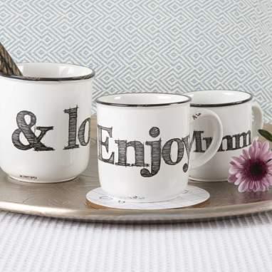 Enjoy taza blanco roto