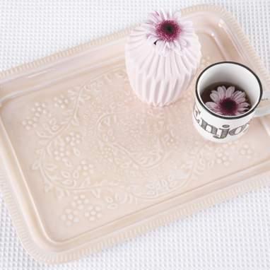 Bake plateau métal rose