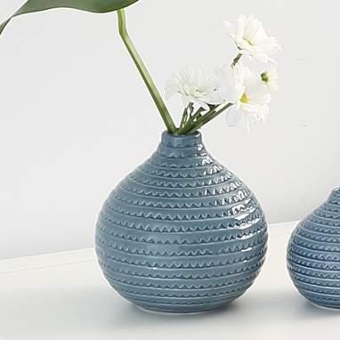 Bima vaso ceramica azzurro