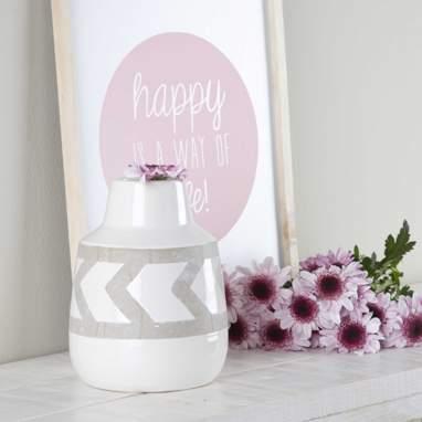 Nitu jarra cerâmica branca
