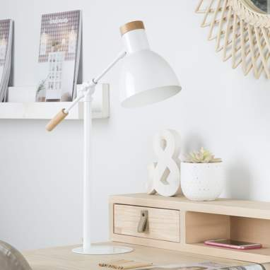 Talus lampe table 55h blanche