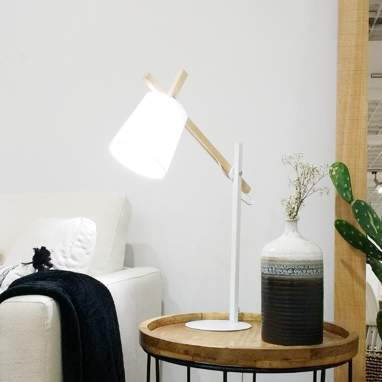 Bodois white table lamp 65h