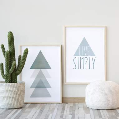 Set prints live simply 50x70