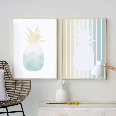 Set prints ananas 50x70