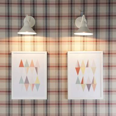 Set 2 planches avec cadre motifs geométriques a3