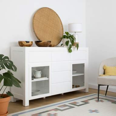 Liland ivory white sideboard