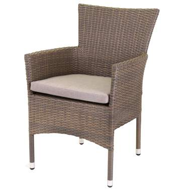 Nerja chaise empilable rothin -taupe