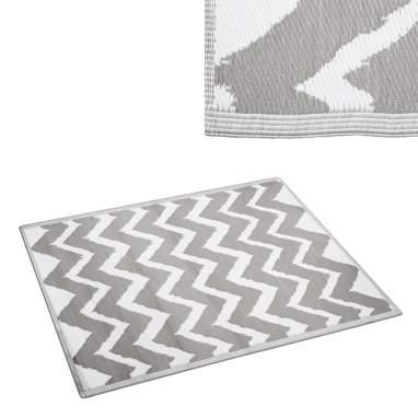 Deis tapis extérieurs gris-blanc