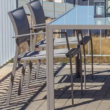 Powi chaise pliante gris housse de 1cm.