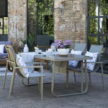 Lakar table rectangulaire aluminium couleur champagne