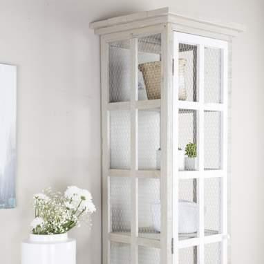 Fiord vitrina individual vison /blanco snow