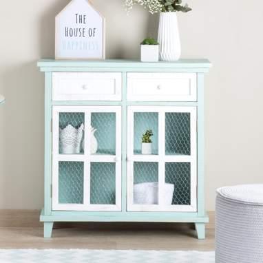 Fiord mueble auxiliar con cajones verde mint/ blanco snow