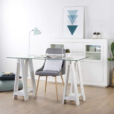 Nordic set 2 trestles (glass not included)