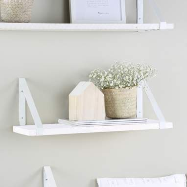 Nordic white metal shelf 60