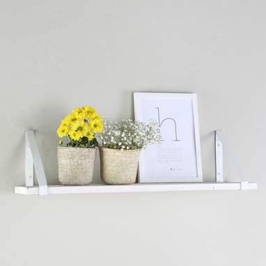 Nordic white metal shelf 80