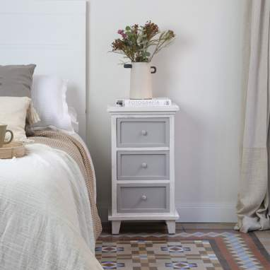 Nordic bedside table 3 drawers