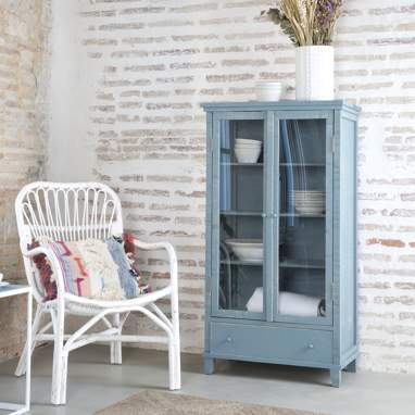 Fiord double glass cabinet