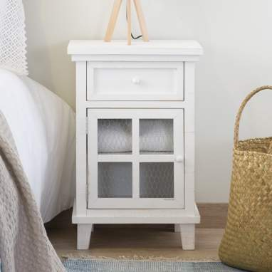 Fiord nightstand w/ grille door