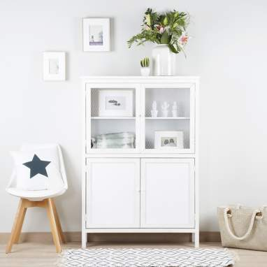 Nordic short glass cabinet