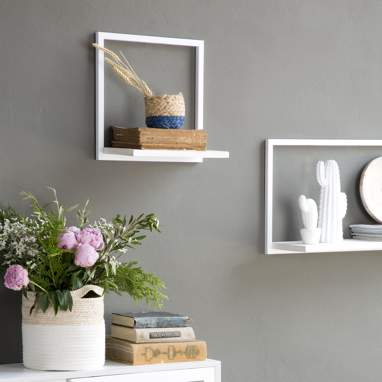 Nordic white metal shelf