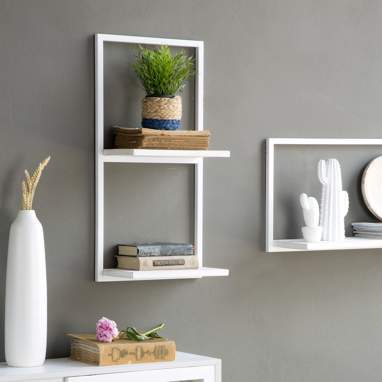 Nordic estante metal vertical blanco