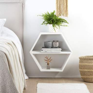 Nordic hexagon shelf