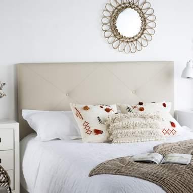 Loira tête de lit tapissée h 120cm