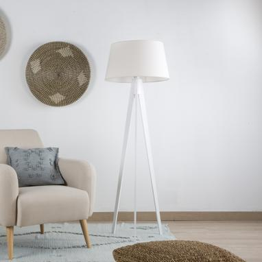 Lure white floor lamp